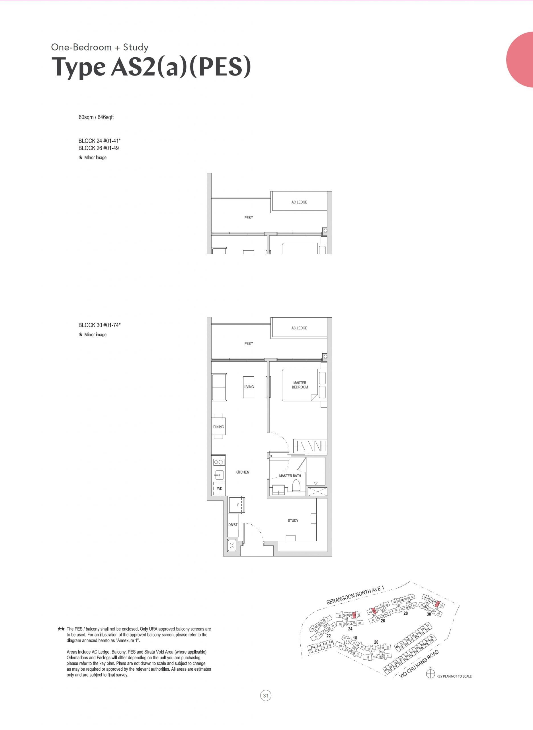Affinity at Serangoon 1 Bedroom AS2 a PES scaled