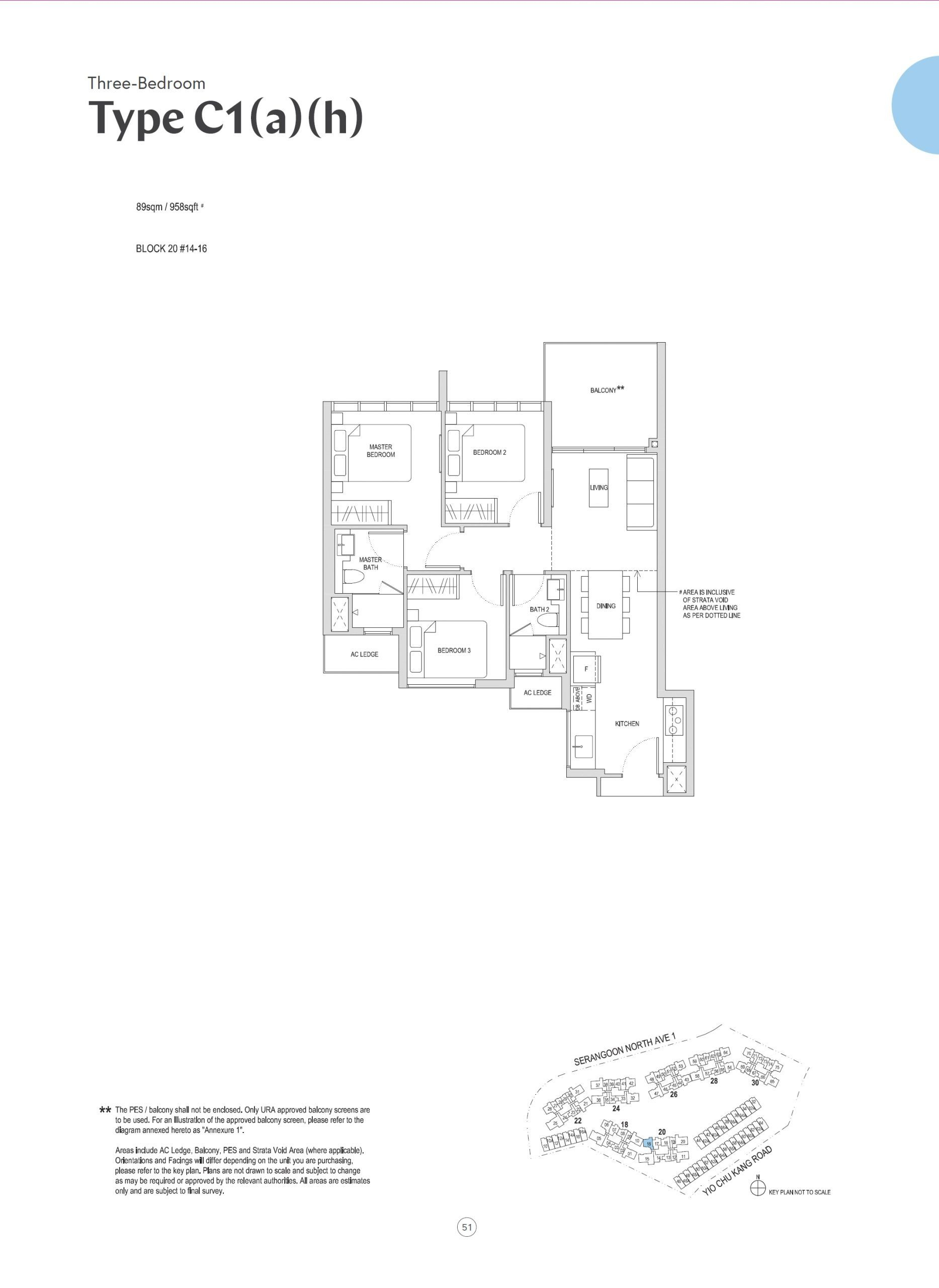 Affinity at Serangoon 3 Bedroom C1 a h scaled